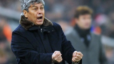 Coach of FC Shakhtar Mircea Lucescu reacts during the football match of UEFA Champions League, Group H, with SC Braga in Donetsk on December 8, 2010. Shakhtar won 2:0. AFP PHOTO/ SERGEI SUPINSKY