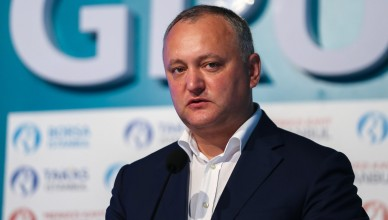ISTANBUL, TURKEY - MAY 23:  President of Moldova Igor Dodon speaks during his visit at Borsa Istanbul in Istanbul, Turkey on may 23, 2017 Arif Hudaverdi Yaman / Anadolu Agency  | BRAA20170523_412 Istanbul Turquie Turkey