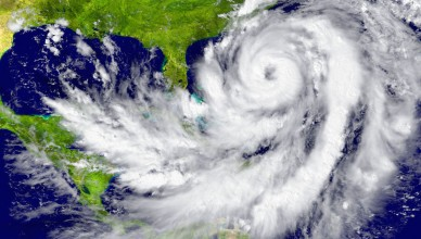 30095329 - huge hurricane between florida and cuba. elements of this image furnished by nasa
