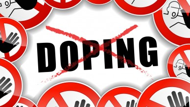 illustration of no doping abstract concept background