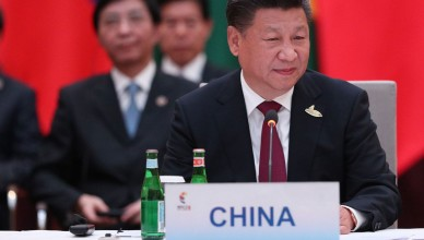HAMBURG, GERMANY - JULY 07: President of China Xi Jinping attends a meeting of BRICS leaders within the G20 Leaders' Summit in Hamburg, Germany on July 07, 2017. Stinger / Anadolu Agency