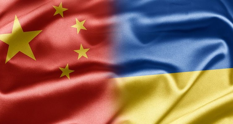 China and the nations of the world. A series of images with an Chinese flag