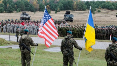 Paratroopers from the 173rd Infantry Brigade Combat Team (Airborne) stand in formation with partner nations at a Transfer of Authority ceremony here Oct. 27. The U.S. Army is supporting Steadfast Jazz 13 with participation from the 173d IBCT(A), one of U.S. Army Europe's forward-based combat brigades and the 1st Heavy Brigade Combat Team, 1st Cavalry Division, the U.S.-based ground force contribution to NATO Response Force 2014. Collectively, these forces represent the re-invigoration of U.S. participation in the NRF and the enduring U.S. commitment to NATO, Europe, and regional stability and prosperity. (U.S. Army photo by Sgt. A.M. LaVey/173 ABN PAO)