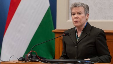 NATO Deputy Secretary General Rose Gottermoeller during her keynote speech at the Ambassadorial Conference of the Hungarian Ministry of Foreign Affairs.