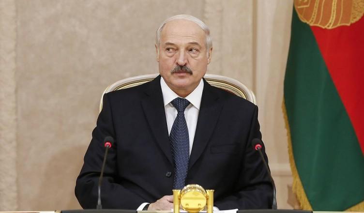 MINSK, BELARUS - APRIL 6, 2018: Belarus' President Alexander Lukashenko attends an extended meeting of the CIS (Commonwealth of Independent States) Council of Foreign Ministers. Alexander Shcherbak/TASS  Áåëîðóññèÿ. Ìèíñê. 6 àïðåëÿ 2018. Ïðåçèäåíò Áåëîðóññèè Àëåêñàíäð Ëóêàøåíêî íà çàñåäàíèè Ñîâåòà ìèíèñòðîâ èíîñòðàííûõ äåë (ÑÌÈÄ) ÑÍÃ â ðàñøèðåííîì ôîðìàòå. Àëåêñàíäð Ùåðáàê/ÒÀÑÑ