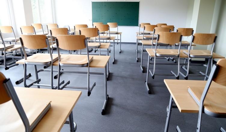 Mācību klase renovētajā Johana Gotfrīda Herdera Rīgas Grīziņkalna vidusskolā.