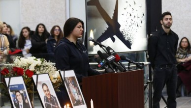 January 10, 2020, Winnipeg, mb, Canada: Ayda Mohammadian speaks about her boyfriend Amir Hossein Ghorbani (21) at the University of Manitoba for a vigil organized by the University of Manitoba Iranian Students Association (UMISA) for the Winnipeg victims killed in a plane crash in Iran in Winnipeg Friday, January 10, 2020., Image: 492083063, License: Rights-managed, Restrictions: * Canada and U.S. RIGHTS OUT *, Model Release: no, Credit line: John Woods / Zuma Press / Profimedia