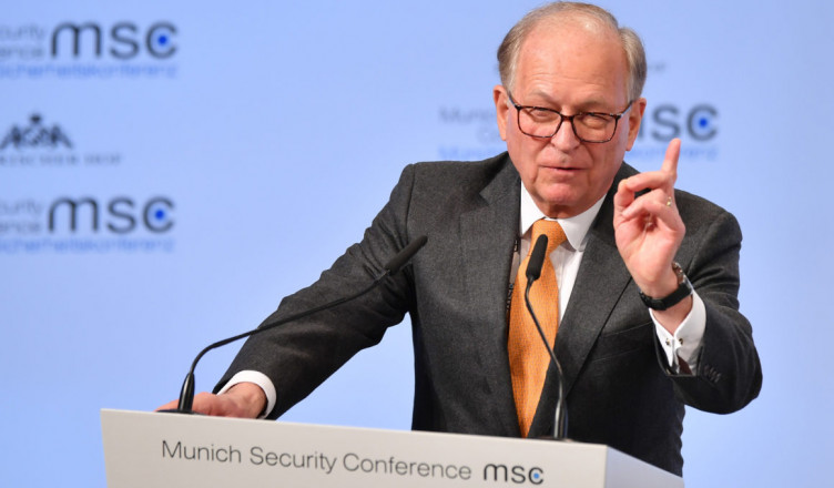 MUNICH, GERMANY - FEBRUARY 16: Wolfgang Ischinger, chairman of the MSC opens the 2018 Munich Security Conference on February 16, 2018 in Munich, Germany. The annual conference, which brings together political and defense leaders from across the globe, is taking place under heightened tensions between the USA, together with its western allies, and Russia. (Photo by Sebastian Widmann/Getty Images)