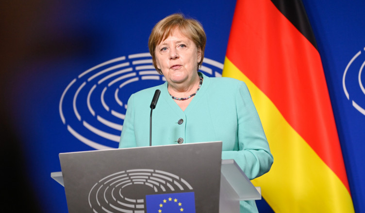 Official visit of Angela MERKEL, German Chancellor for the Presentation of the programme of activities of the German Presidency - Statement
