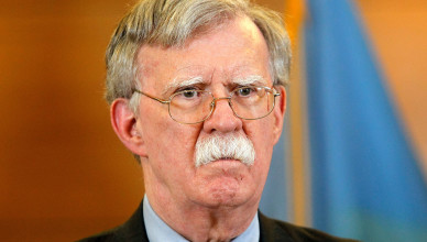 Mandatory Credit: Photo by Pavlo Gonchar/SOPA Images/Shutterstock (10373770e) US National Security Adviser John Bolton speaks during a media conference US National Security Advisor press conference, Kiev, Ukraine - 28 Aug 2019